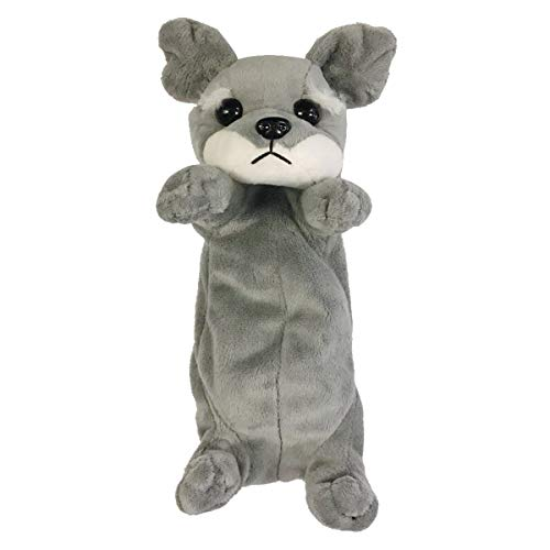 Wrapables Cute Puppy Pouch Plush Pencil Case, Schnauzer