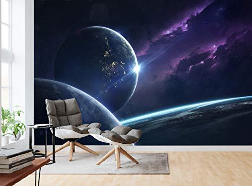 Fototapete Science Fiction Weltraum, Wandbild, Wanddekoration, riesiges Papierposter, kostenloses Bild für Schlafzimmer Wohnzimmer Kosmos Planeten