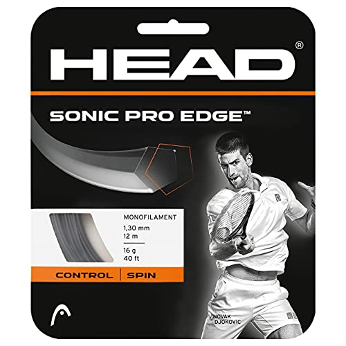 HEAD Unisex-Erwachsene Sonic Pro Edge Set Tennis-Saite, Anthracite, 16