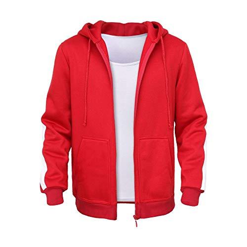 HEROMEN Coco Miguel Hoodie,Suéter De Terciopelo Acolchado para Adultos/Niños Disfraz De Cosplay,Red(Thin)-110cm