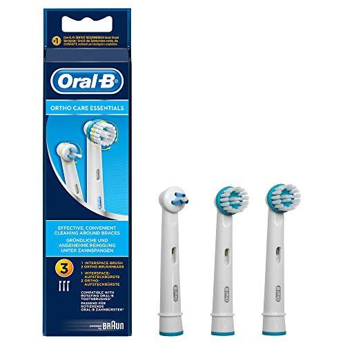Oral-B Ortho Care Cabezales de Recambio, Pack de 3 Recambios Originales para...