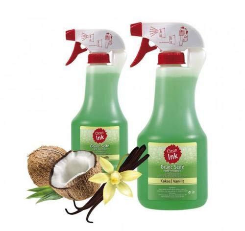 Clean Ink Grüne Seife 500ml. mit Kokos-Vanille Duft - Tattoo Green Soap
