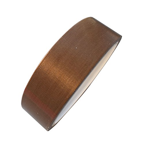 1 x 11yds PTFE Adhesive Tape PTFE Coated Fabric Teflon Tape Adhesive Tape High Temperature Teflon Tape for Vacuum, Hand and Impulse Sealers FoodSaver