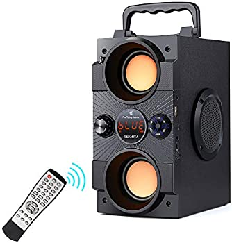 Tenmiya Portable Bluetooth Speaker w/ Double Subwoofers