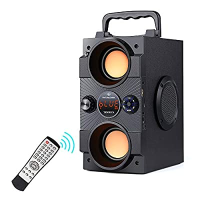 Portable Bluetooth Speakers with Double Subwoofer Heavy Bass