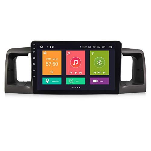 YLCCC Unidad de Cabeza de navegación GPS de Coche Adecuado para Toyota Corolla 2007-2012 Coche Estéreo Sat Nav Capacitivo Touch HD Carplay Sistema de Radio Incorporado Tracker,4Core WiFi:1+16G