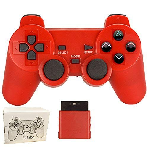 Wireless Controller for PS2 Playstation 2 Dual Shock(Red)