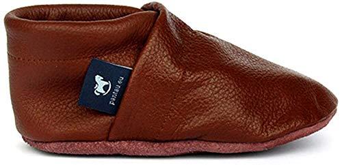 Pantau Leder Krabbelschuhe Lederpuschen Babyschuhe Lauflernschuhe, Braun, 100% Leder, 26 EU