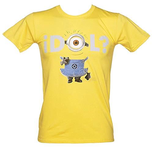 Ich - Einfach Unverbesserlich (Minions) - Idol? - Offizielles Herren T-Shirt - Gelb, Large