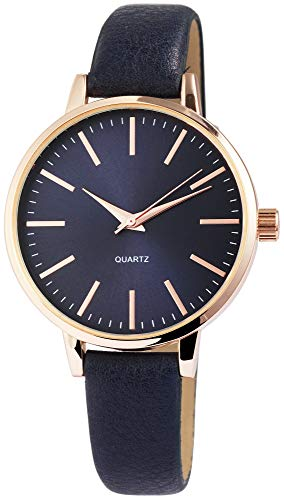Excellanc Damen – Uhr Lederimitation Armbanduhr Analog Quarz 1900109-002