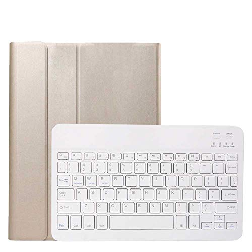 GHC Pad Fundas & Covers para iPad Pro 11 Pulgadas 2020 2da Gen, Teclado inalámbrico ULTA-Slim PU CUBIERTE Flip Stand Funda para iPad Pro 11 Inch 2018 1er Gen (Color : Gold Cover White)