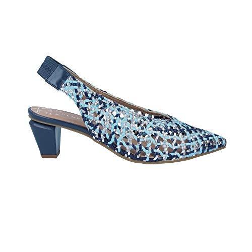 Pedro Miralles - Zapatos Trenzados con Tacón para Mujer de Pedro Miralles 14625-37, Azul