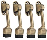 Smart Shophar Brass Door Stopper Vanilla 5 Inches Antique Pack of 4 Pieces