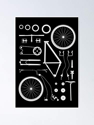 Bike Exploded Poster - for Quote Print, Affordable Wall Art Printable, Gallery Wall, Family, Friends, Brother, Sister, Kids.