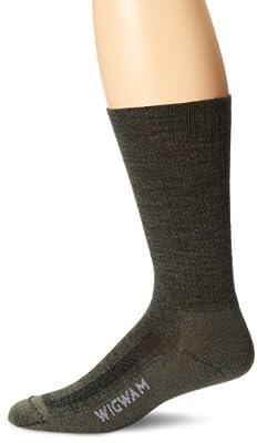 Wigwam Merino Airlite F6003 Sock, Olive Green Heather - Large