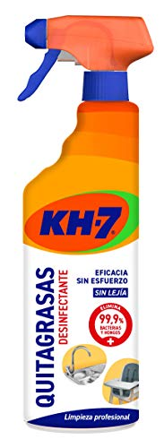 KH-7 Quitagrasas Desinfectante - 4 Recipientes de 650 ml - Total: 2600 ml