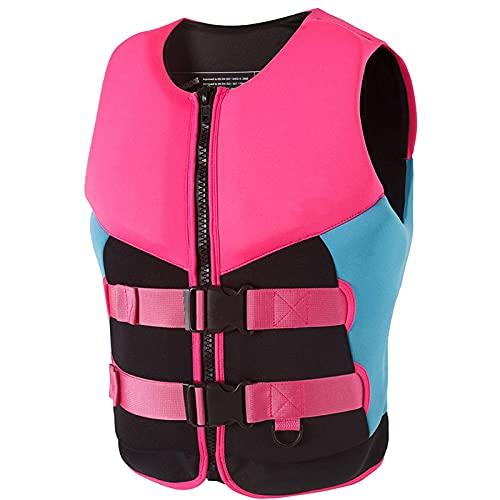 Chalecos salvavidas de surf para hombres y mujeres, alta flotabilidad, profesional, anticolisión, natación, snorkel, flotabilidad, chaleco salvavidas para adultos, para pesca, lancha a motor, rosa,XL