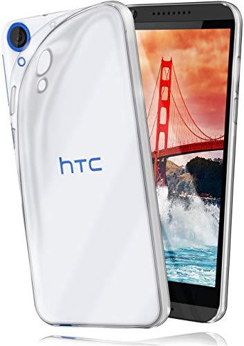 moex Aero Hülle kompatibel mit HTC Desire 820 - Hülle aus Silikon, komplett transparent, Klarsicht Handy Schutzhülle Ultra dünn, Handyhülle durchsichtig einfarbig, Klar