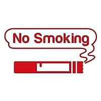 imoninn 禁煙ステッカー(ノースモーキング/No Smoking) カッティングステッカー 横幅10cm 【ゴシック体】(赤色)