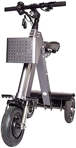Portable Electric Scooter Adult, Portable Foldable, Maximum Spee'd 25KM/H, Charging Time 3-5 Hours, Cruising Range 50km, 48V/350W/10AH, Rear Wheel Dual Hub Brake Safety Sy LATT LIV