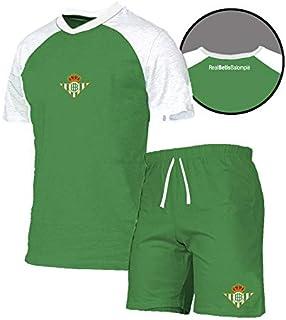 Pijama Verano 2019 RB TL Conjuntos, Multicolor (Verde/Blanco Verde/Blanco), Large (Tamaño del Fabricante: L) para Hombre