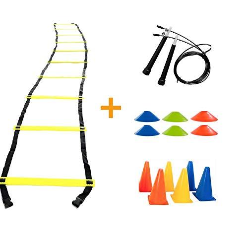 Kit Treino Funcional Escada Agilidade Cones e Corda De Pular