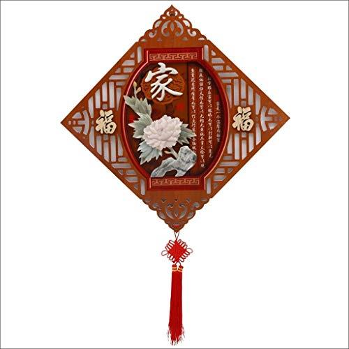 HongLianRiven Jade Carving Wohnzimmer Dekorative Malerei Veranda Hängende Gemälde Diamant Anhänger Dreidimensionale Reliefbilder Moderne chinesische Wandbilder 9-23 (Color : A)