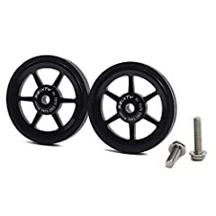 Weight: Titanium bolts 22g//pcs,Steel bolts 31g/pcs Bolts Size: M6 Material: Alloy body with flat rubber ring Use: Brompton & 3SIXTY Folding Bicycle Packages: 2pcs / pair Easywheels + 2 Bolts