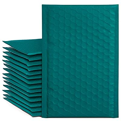 Fu Global #000 4x8 Inch Forest green Bubble Mailer Self Seal Padded Envelopes Pack of 50