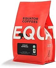 Equator Coffees & Teas Jaguar Espresso, Fair Trade & Organic, Roasted Fine Ground Coffee for Espresso Or Moka Pot,, 12 Oz ()