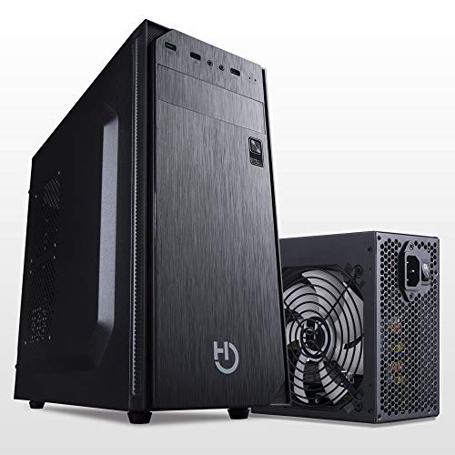Hiditec Pack Torre PC KLYP y Fuente de Alimentación PSU 500W | Formato ATX | Diseño Resistente y Robusto | Materiales de Calidad