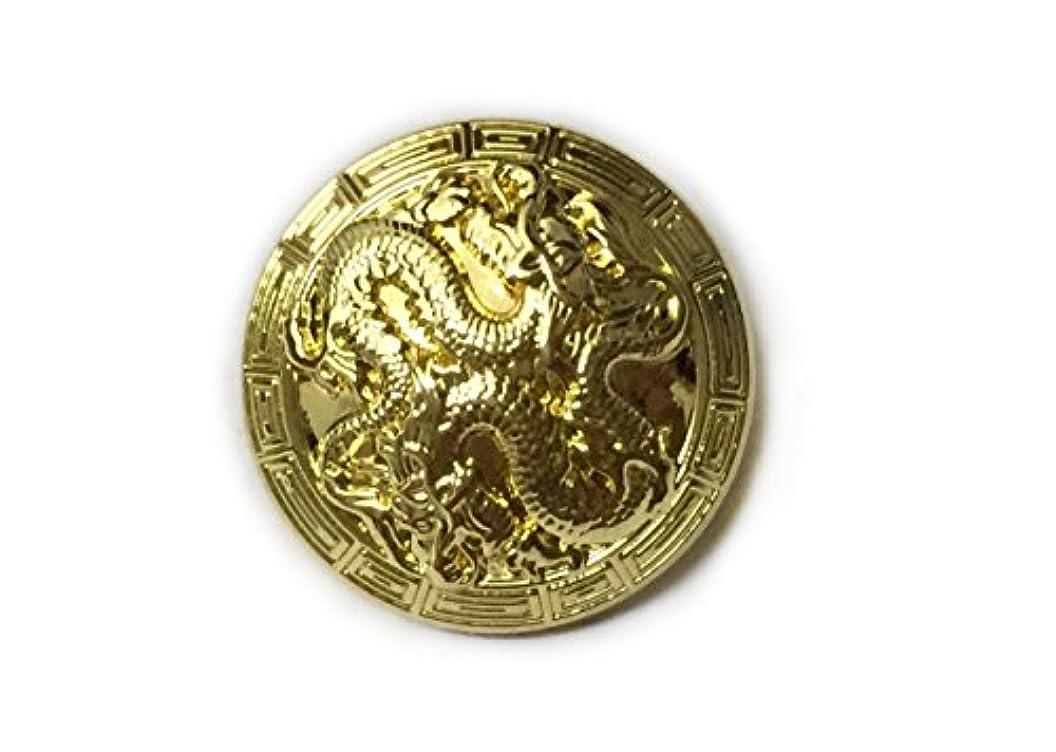 WENTO 4pcs Dragon Metal Button,Gothic Metal Buttons,Dragon Carved Metal Buttons,Shank Dragon Buttons,Vintage Shank Metal Button,SAFL059 (18 mm, Light Gold) sabpkvteykw71