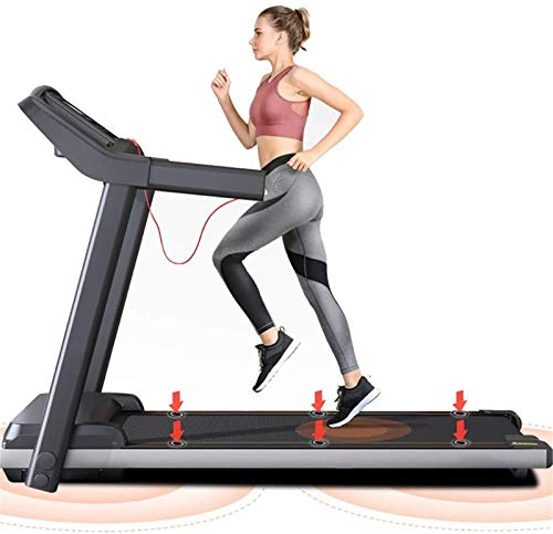 DZXCB Folding Electric Motorised Treadmill Walking Running Machine Household Model with Maximum Load Capacity of 120KG 13-Inch LED Display with Armrests Weight Loss and Fat Burning