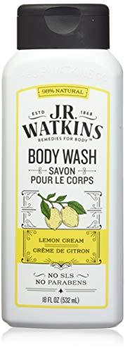 J.R. Watkins Daily Moisturizing Lemon Cream Body Wash, 18 Ounce