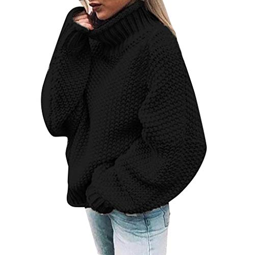 Sudadera de manga larga para mujer, con hombros descubiertos, informal, de punto, para mujer, Negro, XXL