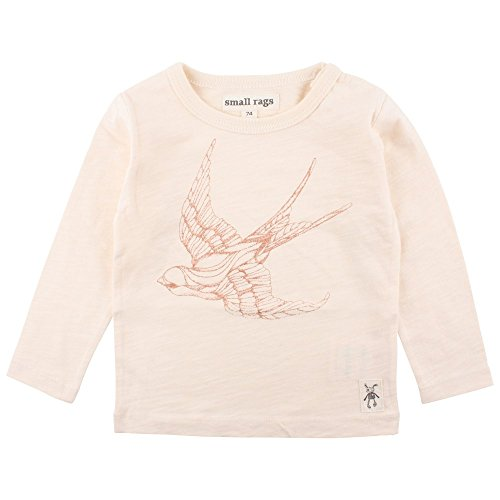 Small Rags Small Rags Baby-Mädchen Ella LS Top Bluse, Elfenbein (White Peach 02-39), 50