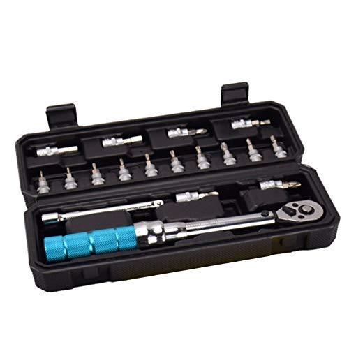 Herramienta, juego de herramientas de reparación de bicicletas con llave dinamométrica ajustable de 1/4 pulgada 2-20Nm Juego de herramientas de reparación de bicicletas Juego de herramientas manuales