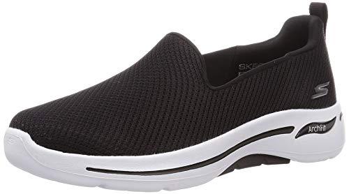 Skechers Go Walk Arch Fit Black/White 8.5 D - Wide