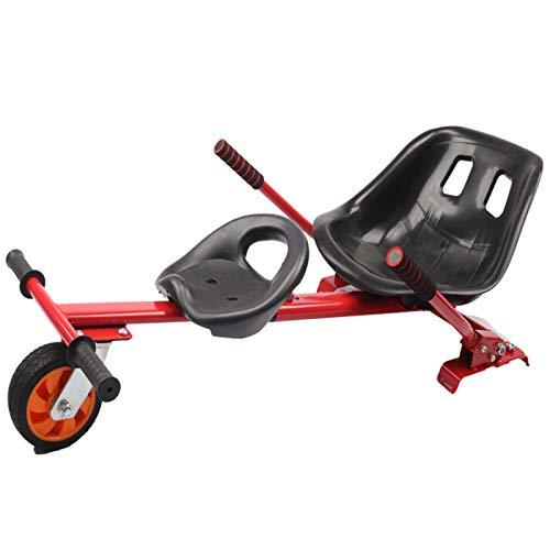 """YAHAO Hoverkart Réglable-Kart,À 2 Roues Chaise Kart Seat pour électrique Scooter,Go-Kart Balance Scooter Convient pour Les Enfants Ou Les Adultes (6,5, 8,10""""),Red"""