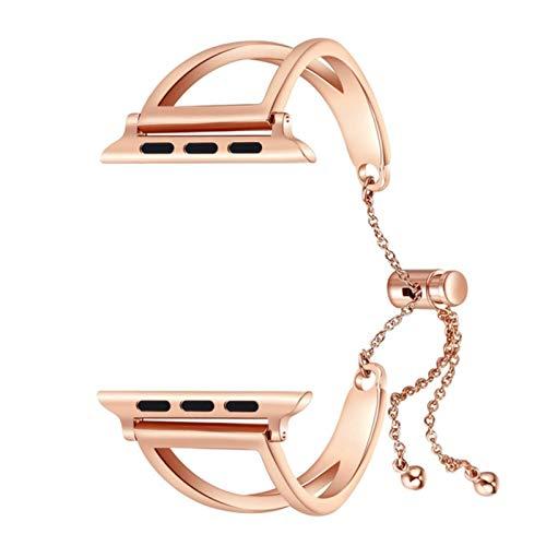Correa de banda para Apple Watch banda 40 mm / 44 mm 38 mm / 42 mm Cinturón de metal para mujer Pulsera de acero inoxidable Serie iWatch 3 4 5 se 6 bandas