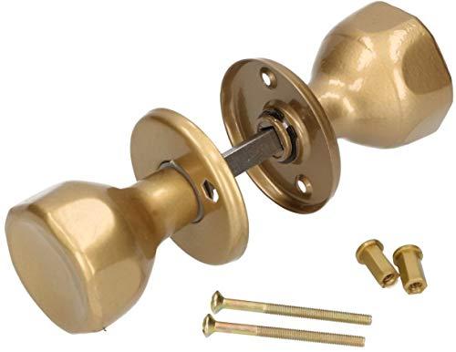 KOTARBAU - Pomo giratorio para puerta, 5 colores, con tornillos de montaje, acero lacado, pomo, pomo giratorio