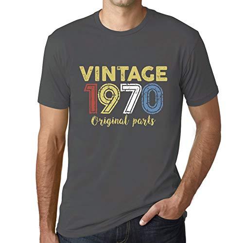 Ultrabasic - Hombre Camiseta Gráfico tee Shirt 1970 Cumpleaños de 51 años Original Parts Ratón Gris