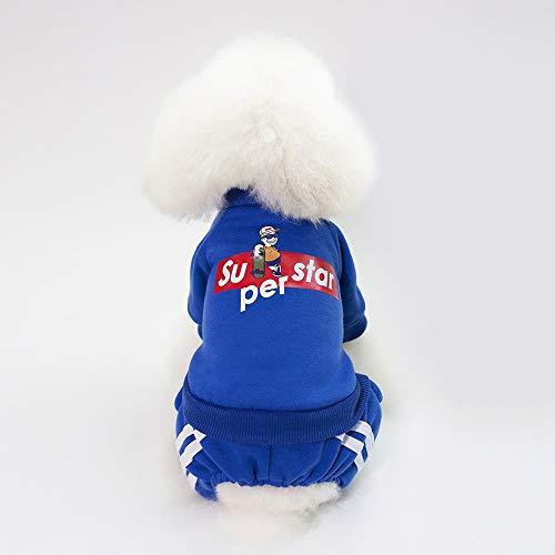 SUNXK Pet dierbenodigdheden hond trui huisdier kleding herfst en winter kleding 18 skateboard kid sweater SUNXK (Color : Dark blue, Size : XXL)