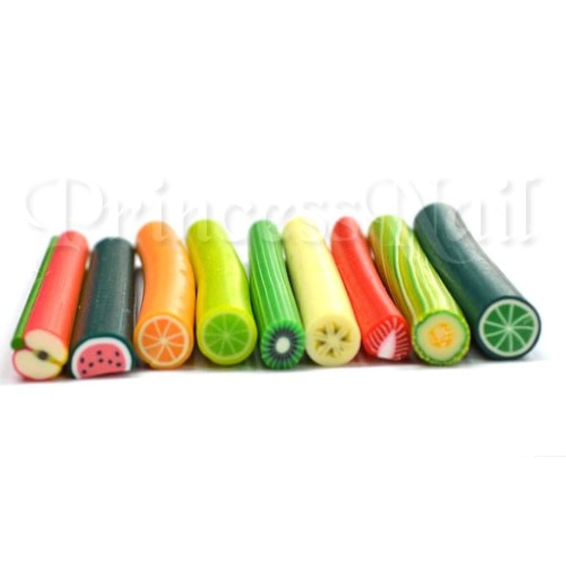 好きインセンティブソケットフルーツ棒9種類セット 長さ約5cm直径平均5mm 薄くスライスして爪やデコに!