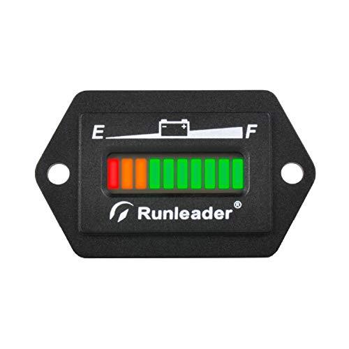 Runleader 12V 24V 36V 48V Indicador LED de batería, medidor de Capacidad...