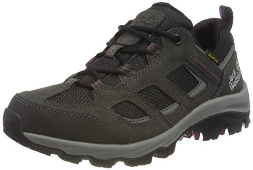 Jack Wolfskin Damen Vojo 3 Texapore Low W Outdoorschuhe, Dark Steel/Purple, 38 EU