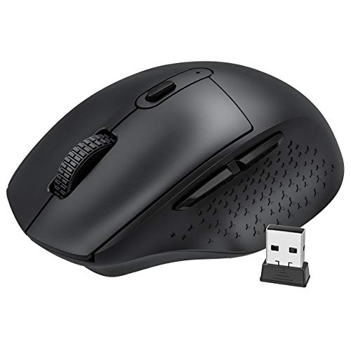 Wireless Mouse, Rechargeable Mouse Computer Mouse Wireless 2.4G with USB, 5 Adjustable...