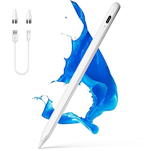 NTHJOYS - Lápiz capacitivo para pantallas táctiles para iOS/Android con diseño magnético, lápiz de punta fina, compatible con Apple iPad/Pro/Air/Mini/iPhone/Samsung/Tabletas de escritura y dibujo