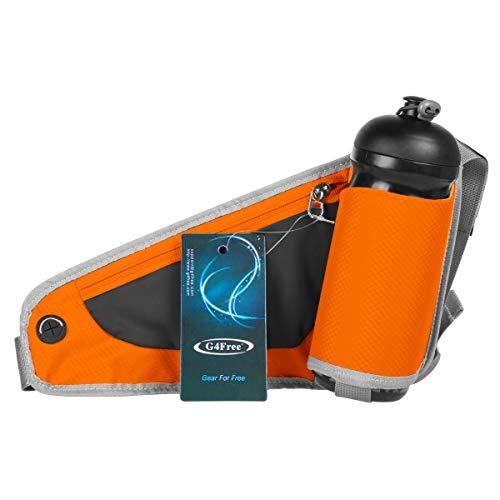 G4Free ランニングポーチ ボトル ジョギングポーチ ランナーポーチ 160g 軽量 2way ウエストバッグ サイク...