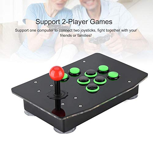 Jacksking USB Arcade Fighting Game Console Joystick Sin demora Controlador Holiday Arcade Fight Joystick para PC Juegos de computadora